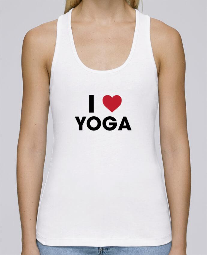Débardeur bio femme Stella Dreams I love yoga par tunetoo en coton Bio