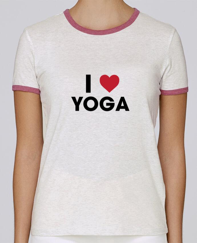 T-shirt Femme Stella Returns I love yoga pour femme par tunetoo