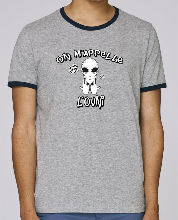 T-Shirt Ringer Contrasté Homme Stanley Holds Ovni Jul pour femme par tunetoo