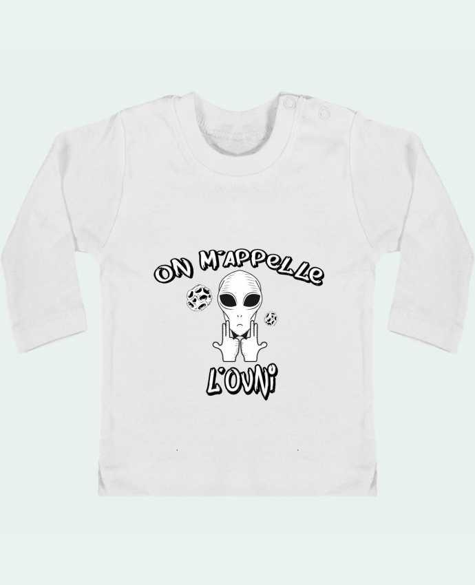 T-shirt Bébé Manches Longues Boutons Pression Ovni Jul manches longues du designer tunetoo