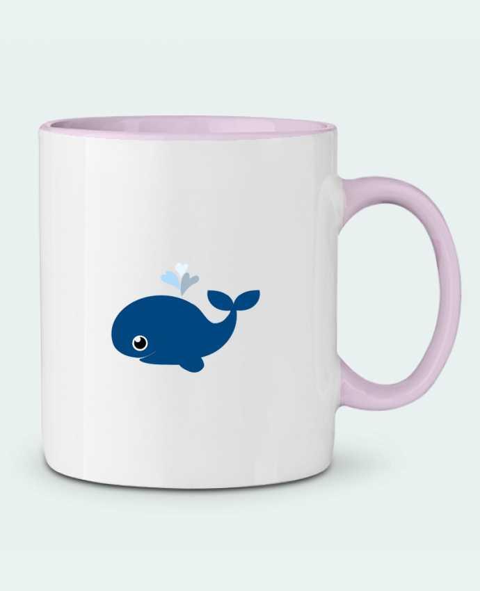 Mug en Céramique Bicolore Baleine coeur WBang