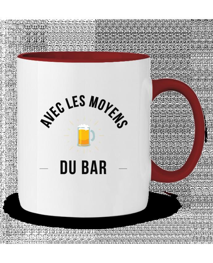 Mug en Céramique Bicolore Avec les moyens du bar Ruuud