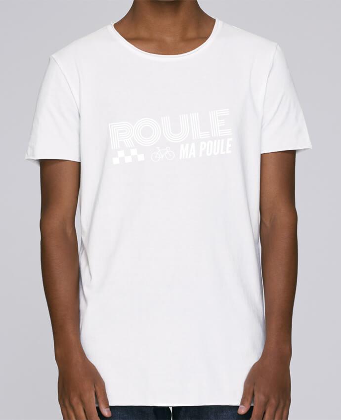 T-shirt Homme Oversized Stanley Skates Roule ma poule / blanc par justsayin