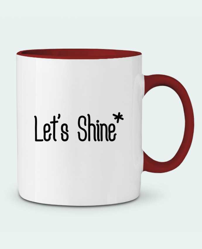 Mug en Céramique Bicolore Let's shine tunetoo