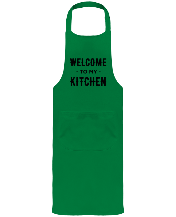Tablier de Jardinier ou Sommelier avec Poche Welcome to my kitchen par tunetoo