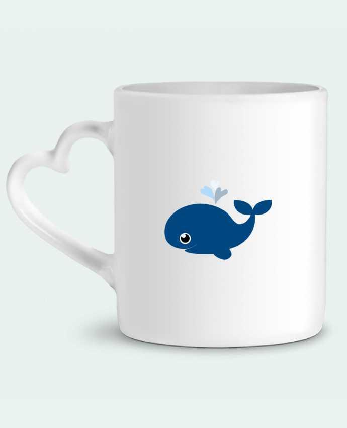 Mug Coeur Baleine coeur par WBang