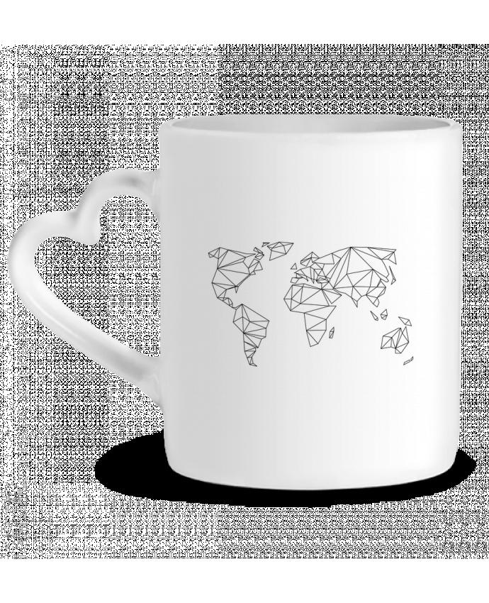 Mug Coeur Geometrical World par na.hili