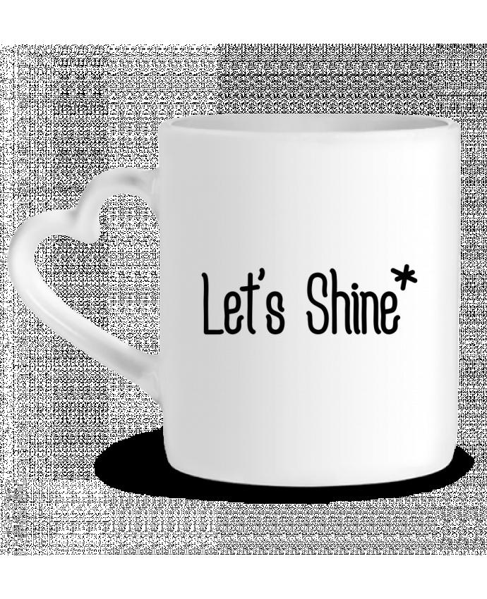 Mug Coeur Let's shine par tunetoo