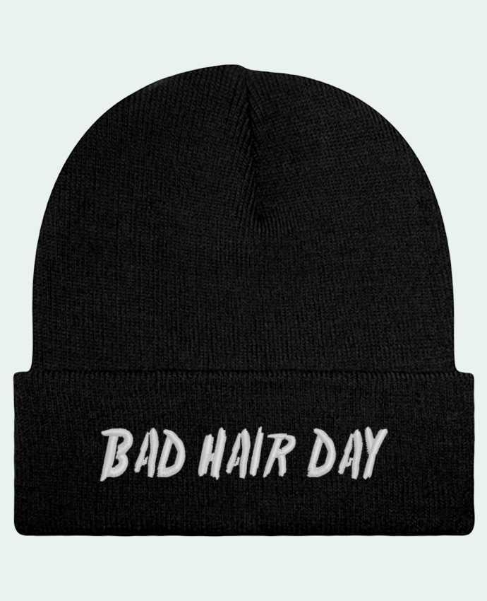 Bonnet Beanie à Revers Bad hair day par tunetoo