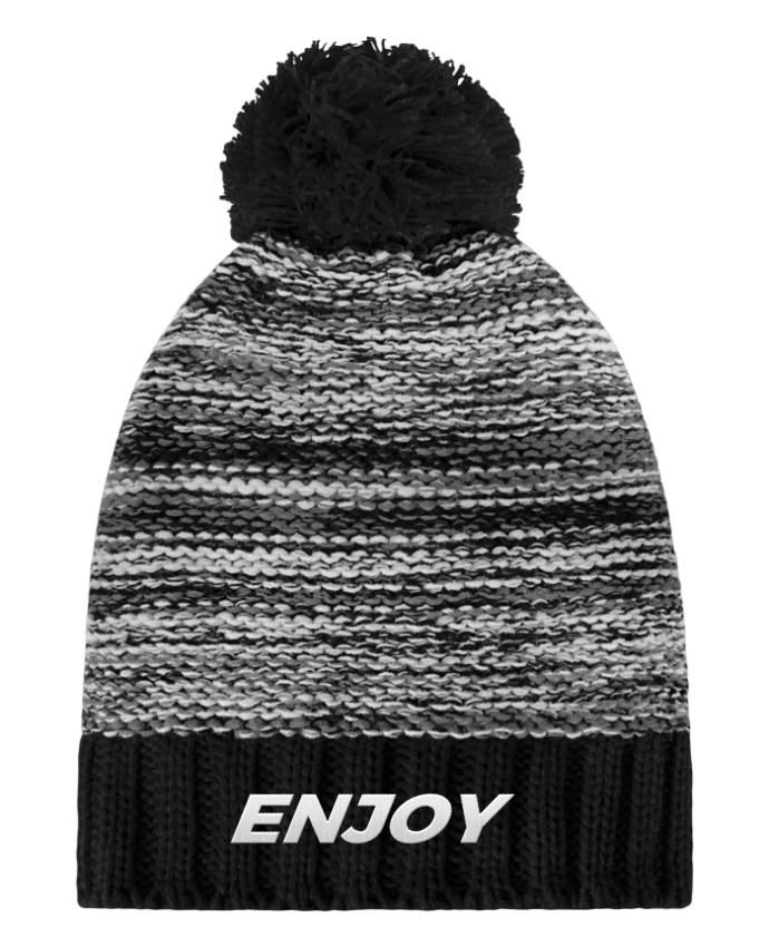 Bonnet Pompon Slalom Boarder Enjoy par tunetoo