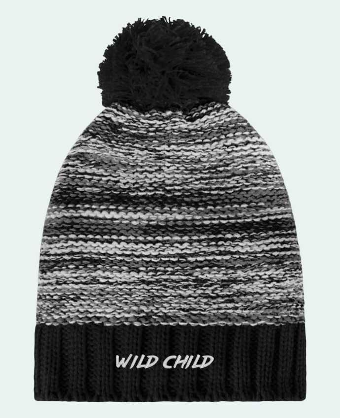 Bonnet Pompon Slalom Boarder Wild Child par tunetoo