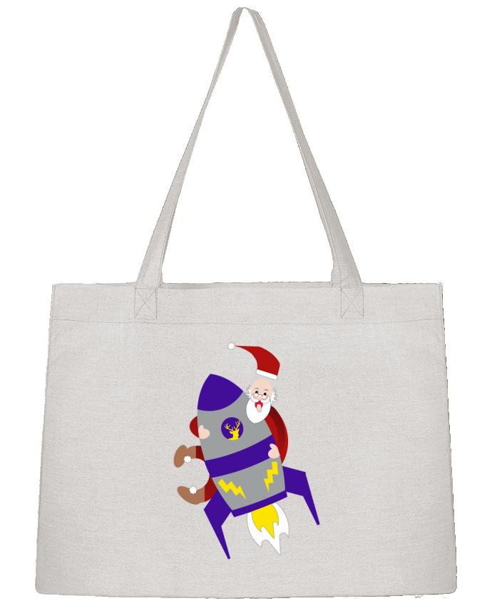 Sac Cabas Shopping Stanley Stella Père Noël sur sa fusée par Les Caprices de Filles