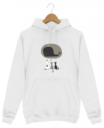 Sweat Shirt à Capuche Homme Dream Big par flyingmouse365