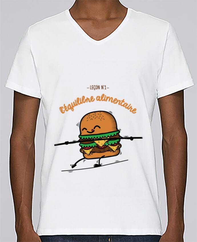T-shirt Col V Homme Stanley Relaxes Equilibre alimentaire par PTIT MYTHO