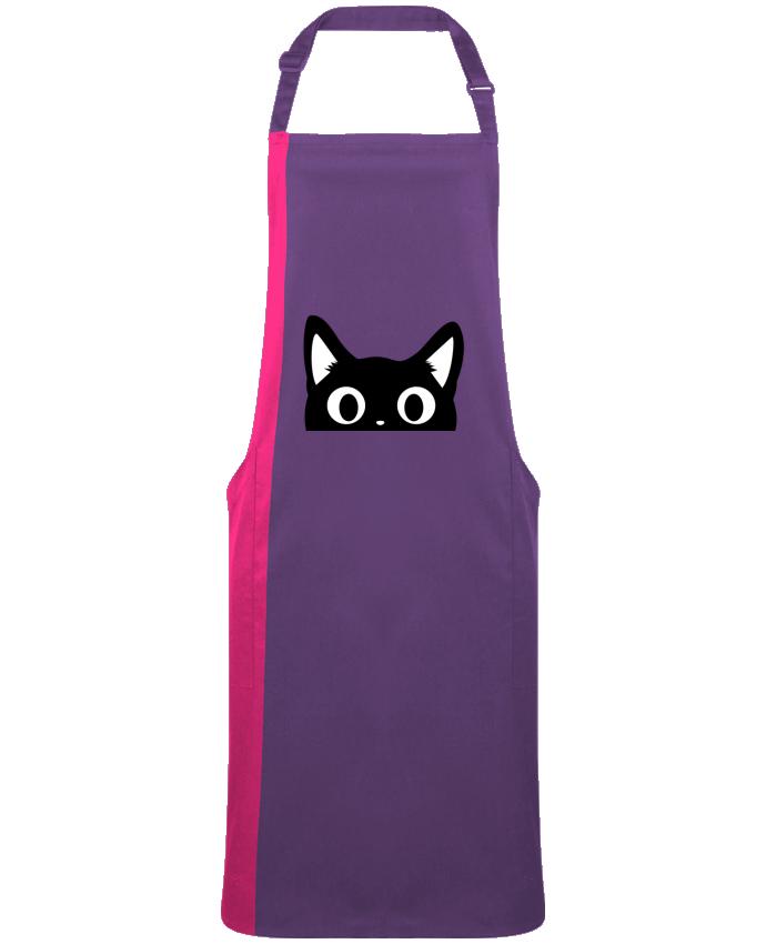 Tablier Long Bicolore Chat par  Nana