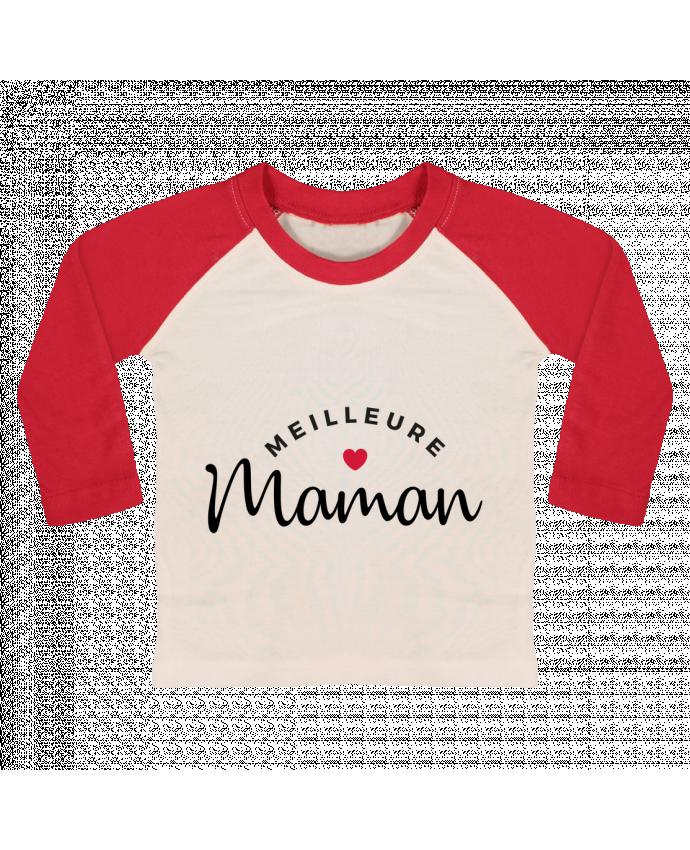T-shirt Bébé Baseball Manches Longues Meilleure Maman par Nana