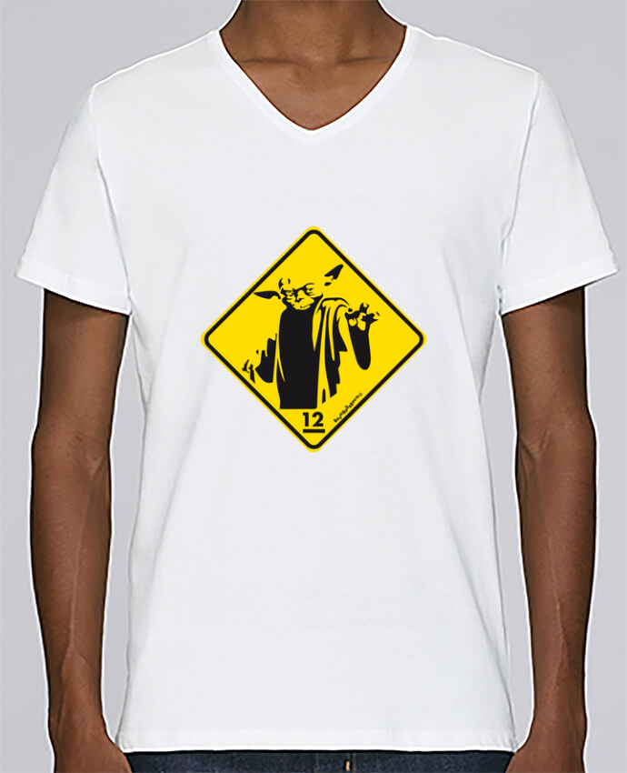 T-shirt Col V Homme Stanley Relaxes Yoda par Zorglub