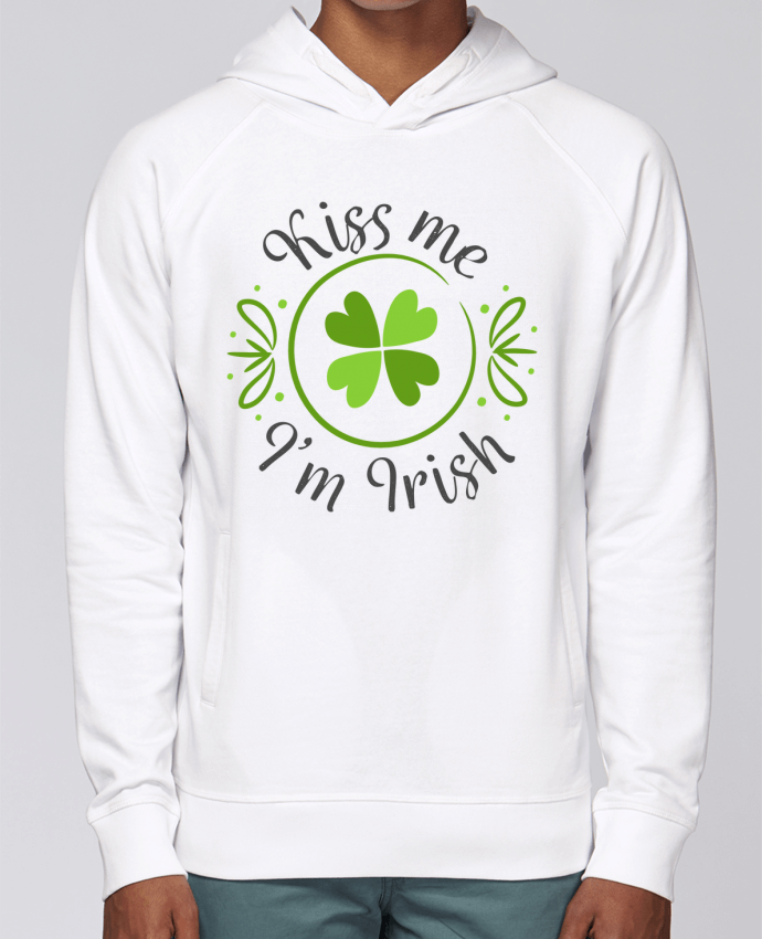Sweat Capuche Homme Stanley Base Kiss me I'm Irish par tunetoo