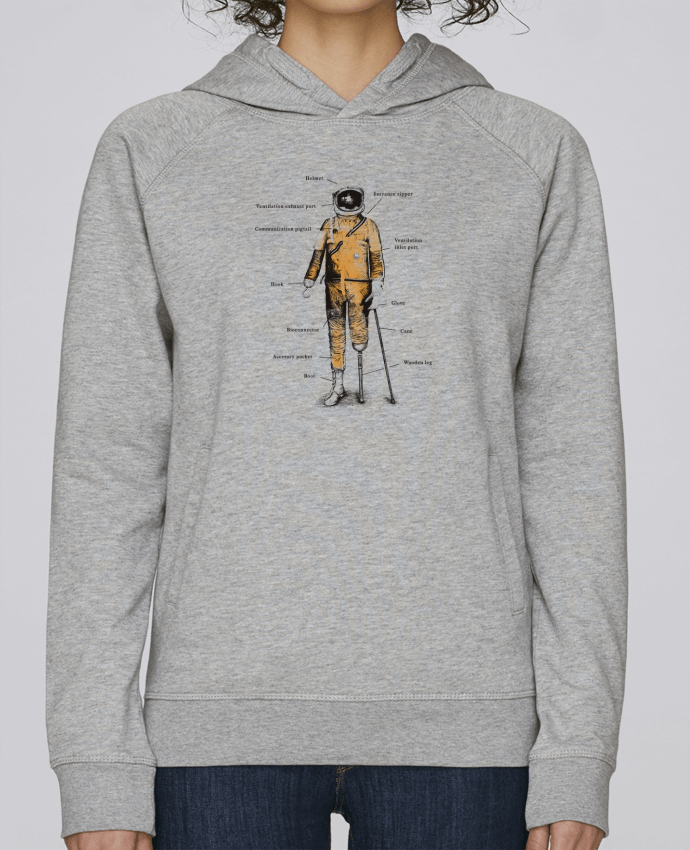 Sweat Capuche Femme Stanley Base Astropirate with text par Florent Bodart