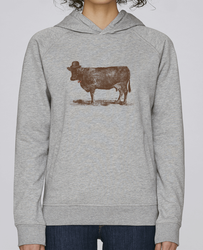 Sweat Capuche Femme Stanley Base Cow Cow Nut par Florent Bodart