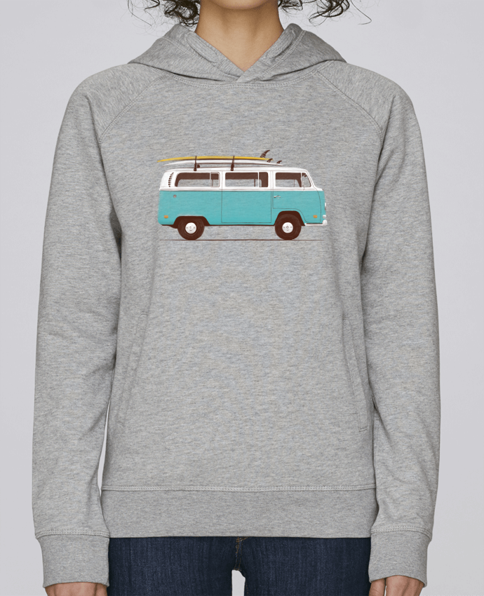 Sweat Capuche Femme Stanley Base Blue van par Florent Bodart