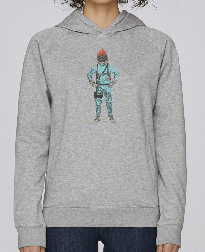 Sweat Capuche Femme Stanley Base Zissou in space par Florent Bodart