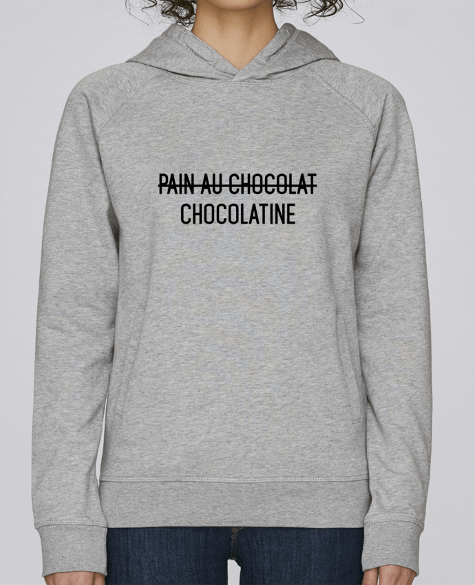 Sweat Capuche Femme Stanley Base Chocolatine par tunetoo