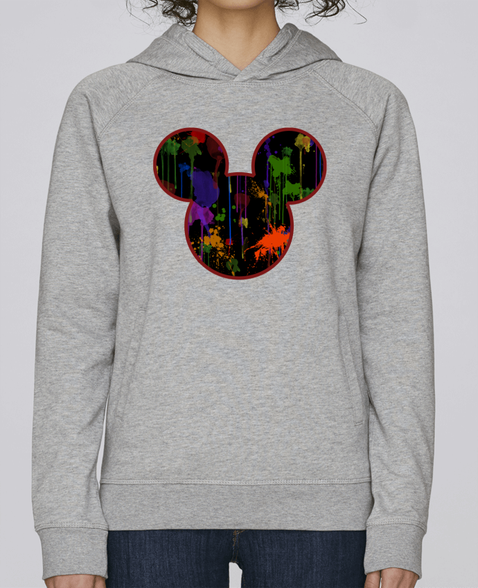 Sweat Capuche Femme Stanley Base Tete de Mickey version noir par Tasca