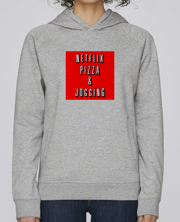 Sweat Capuche Femme Stanley Base Netflix Pizza & Jogging par WBang