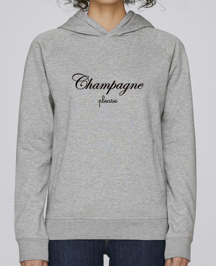 Sweat Capuche Femme Stanley Base Champagne Please par Freeyourshirt.com