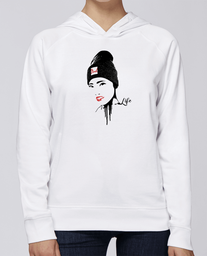Sweat Capuche Femme Stanley Base Geisha par Graff4Art