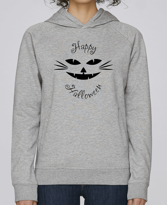 Sweat Capuche Femme Stanley Base Happy CatHalloween par