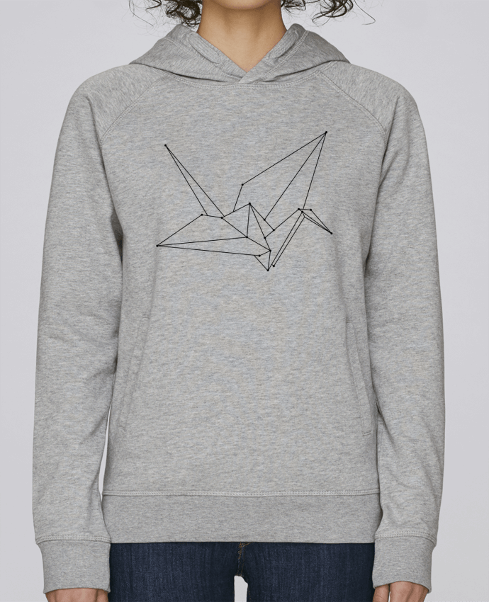 Sweat Capuche Femme Stanley Base Origami bird par /wait-design