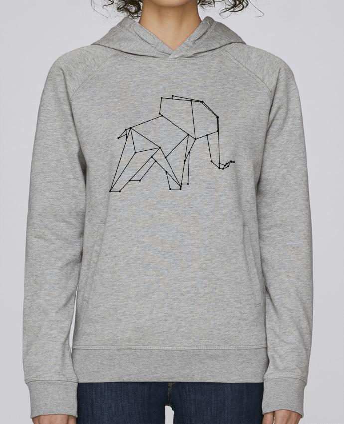 Sweat Capuche Femme Stanley Base Origami elephant par /wait-design