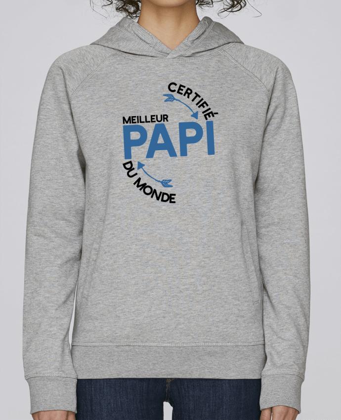 Sweat Capuche Femme Stanley Base Certifié meilleur papi cadeau par Original t-shirt