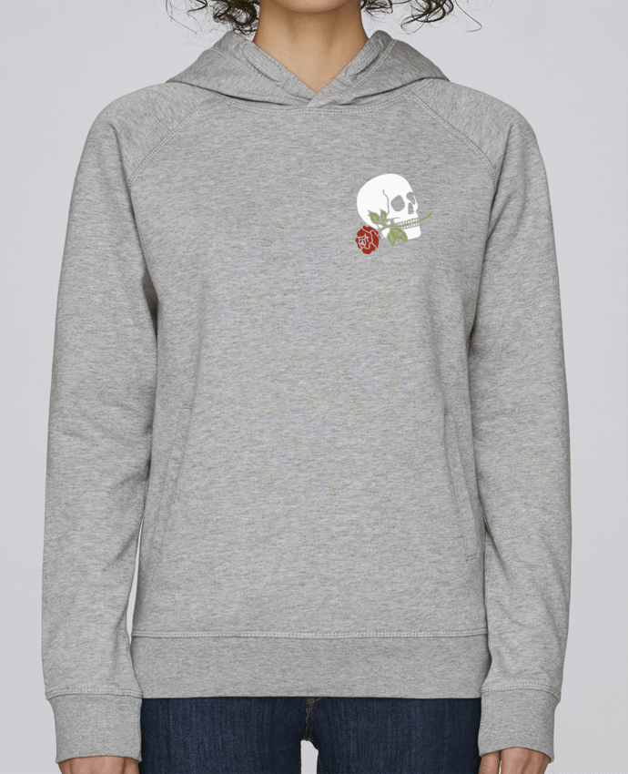 Sweat Capuche Femme Stanley Base Skull flower par Ruuud