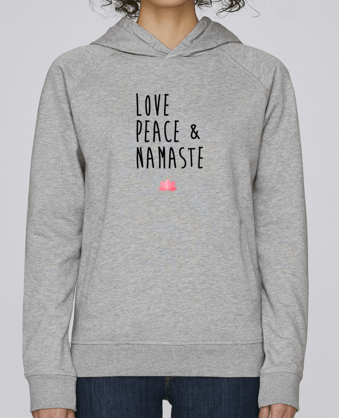 Sweat Capuche Femme Stanley Base Love, Peace & Namaste par tunetoo