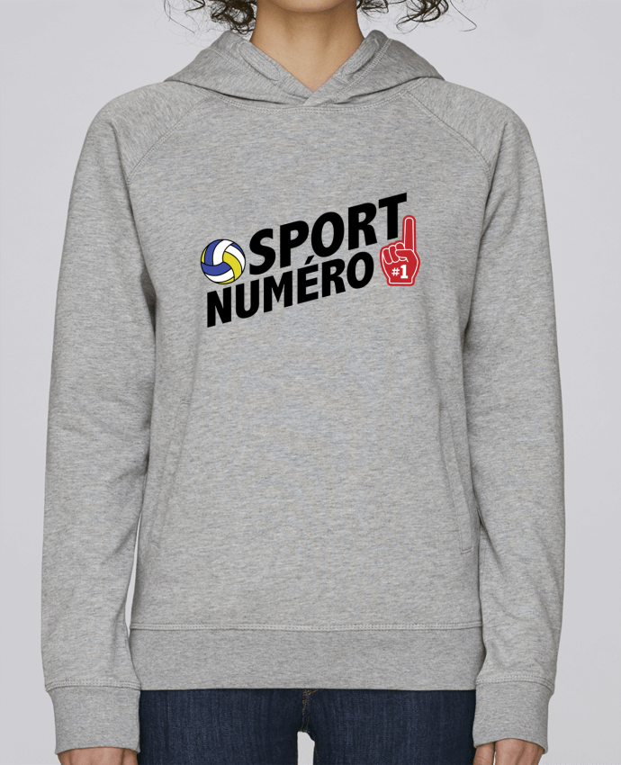 Sweat Capuche Femme Stanley Base Sport numéro 1 Volley par tunetoo