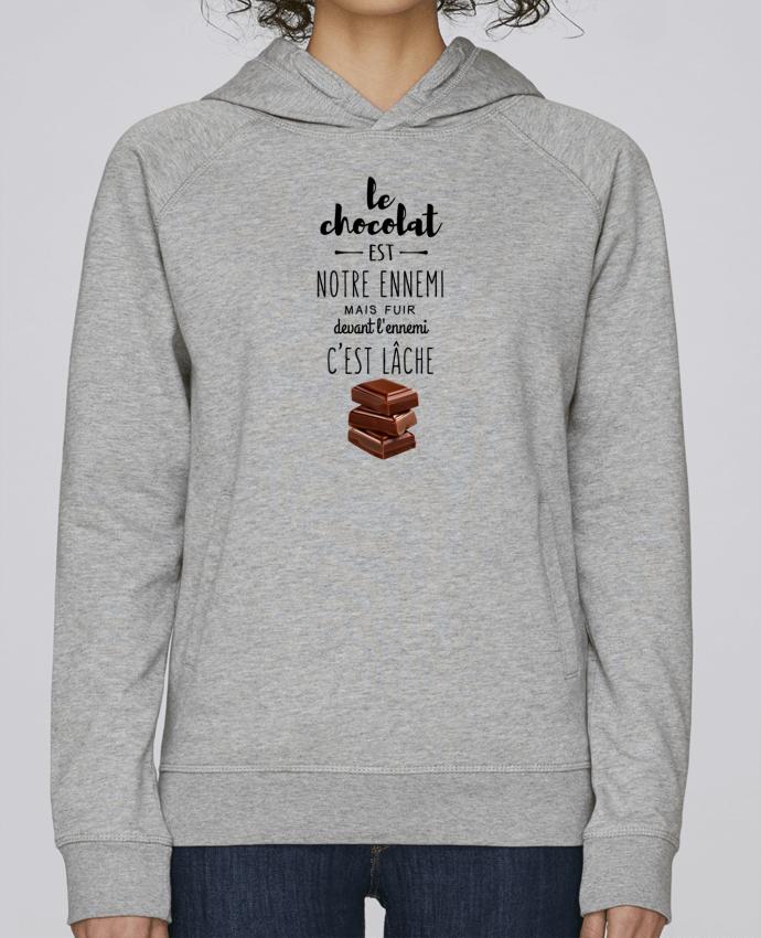 Sweat Capuche Femme Stanley Base chocolat par DesignMe