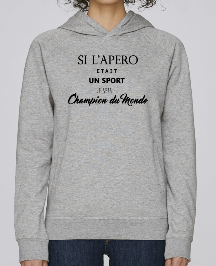 Sweat Capuche Femme Stanley Base apero foot par DesignMe