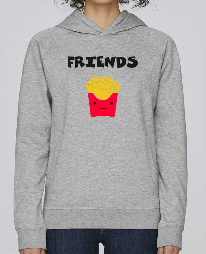 Sweat Capuche Femme Stanley Base BEST FRIENDS FRIES par tunetoo