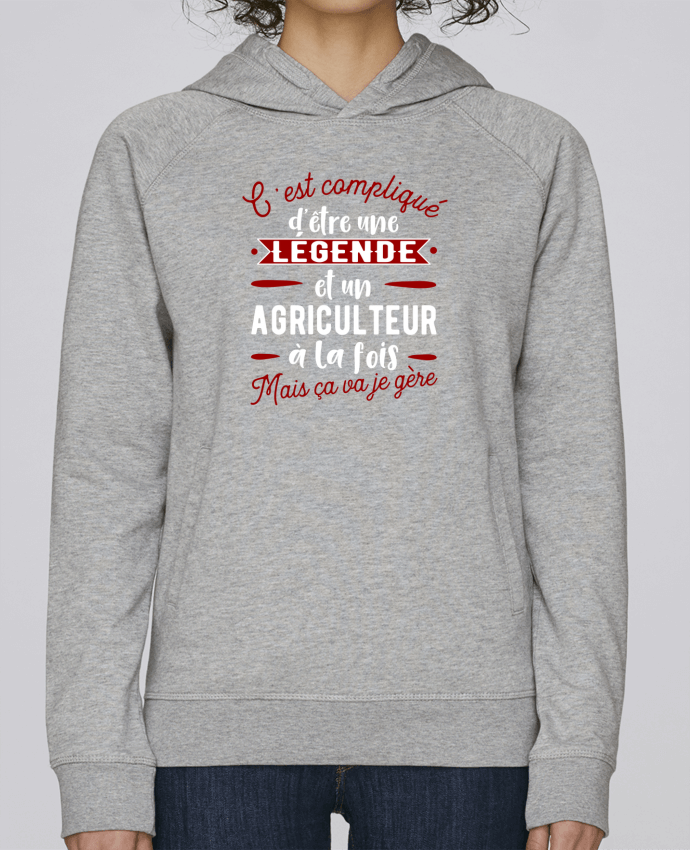 Sweat Capuche Femme Stanley Base Légende et agriculteur par Original t-shirt