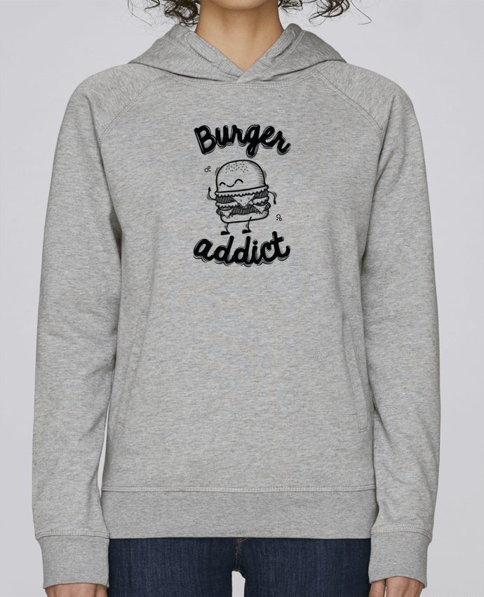 Sweat Capuche Femme Stanley Base BURGER ADDICT par PTIT MYTHO