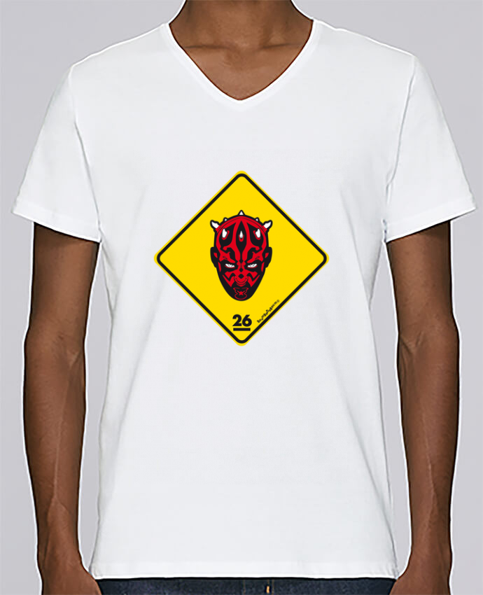 T-shirt Col V Homme Stanley Relaxes Darth Maul par Zorglub