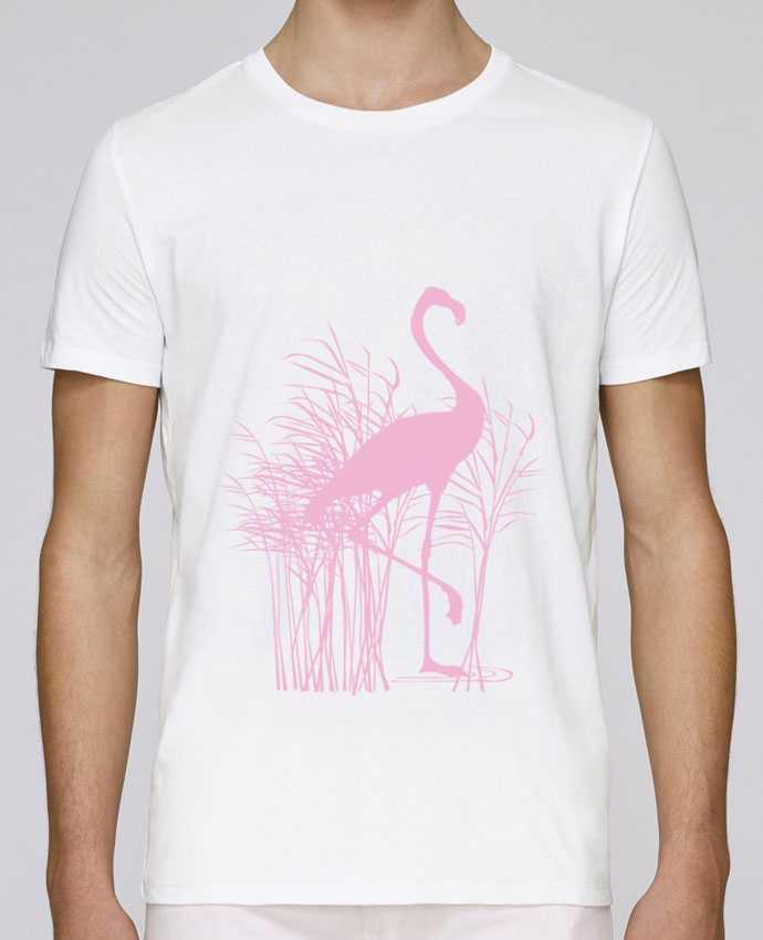 T-Shirt Col Rond Stanley Leads Flamant rose dans roseaux par Studiolupi