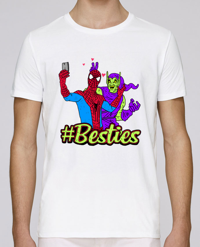 T-Shirt Col Rond Stanley Leads #Besties Spiderman par Nick cocozza