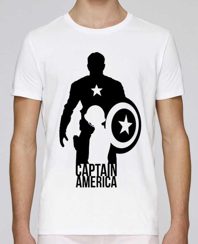 T-Shirt Col Rond Stanley Leads Captain america par Kazeshini