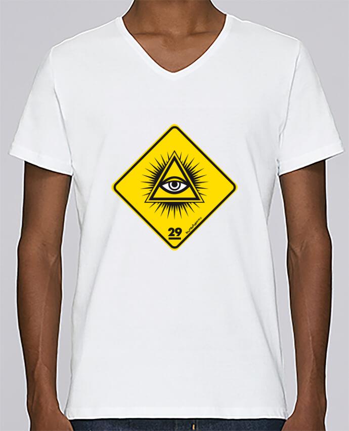 T-shirt Col V Homme Stanley Relaxes Delta rayonnant Franc Maçonnique par Zorglub