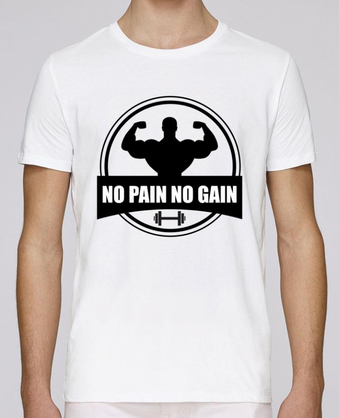 T-Shirt Col Rond Stanley Leads No pain no gain Muscu Musculation par Benichan