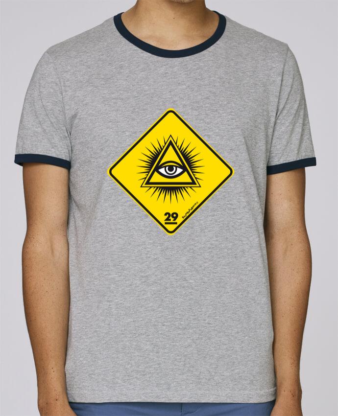 T-Shirt Ringer Contrasté Homme Stanley Holds Delta rayonnant Franc Maçonnique pour femme par Zorglub